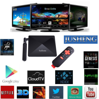 JUSHENG W9 Android TV Box With Fully Loaded XBMC Amlogic S812 Quad Core CPU Octa Core GPU 2GB / 16GB Dual Band Wifi 2.4.5G And Bluetooth Steaming Media Players