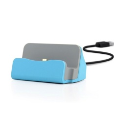 Kabel & Docking Station Charger Cradle Charging Sync Dock For iPhone 5/6 ,iPad Mini.iPod 7, iPod Touch5 - Blue