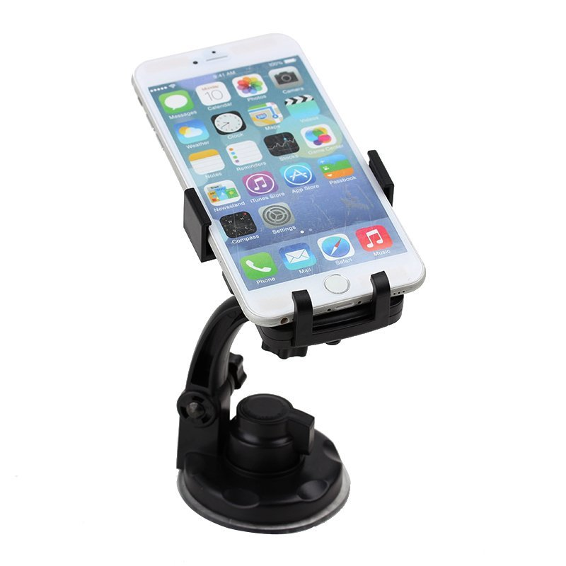Kimi Car Universal Strong Holder 360 rotation for All Mobile Phone - Hitam