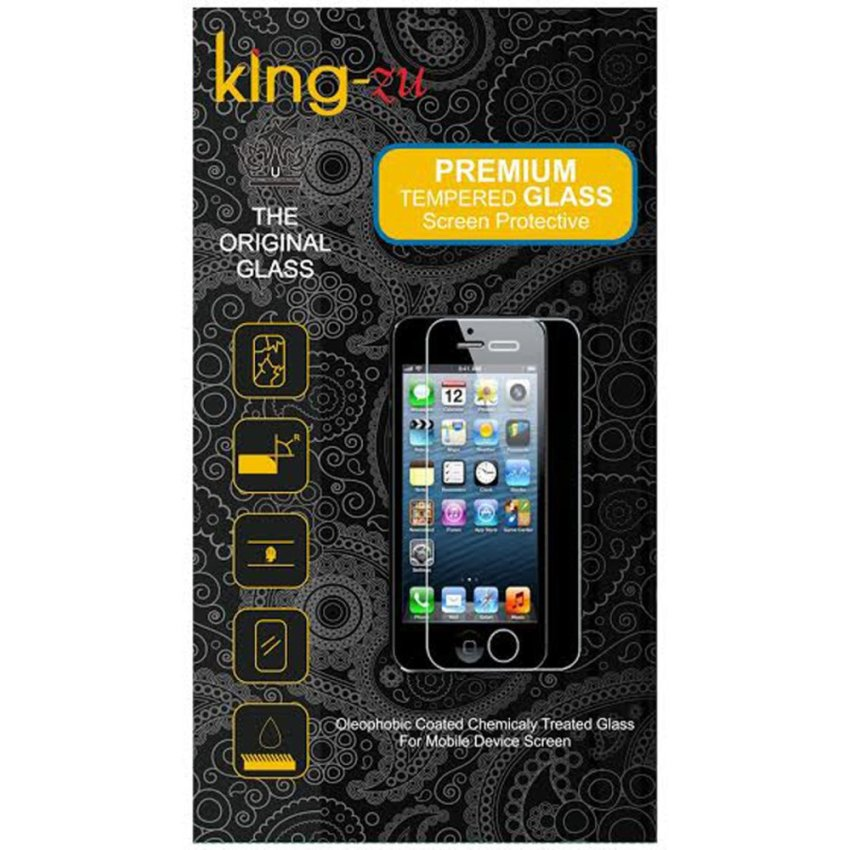 King-ZuGlass untuk Asus Zenfone 5 - Premium Tempered Glass -Rounded Edge 2.5D