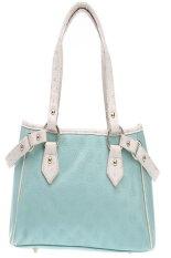 Kingor Women's / Ladies Rose Printed Modern Fashion Tote Handbag-mint Green