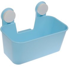 Kitchen Bathroom Draining Storage Box With Strong Double Sucker Blue- Intl