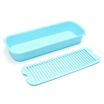 Jual Kitchen Sink : Jual Kitchen Countertop Sink Draining Board Storage Box Cutlery Basket ...