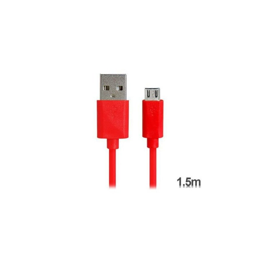 KS-U31 1.5 m Micro USB Charging Data Cable for Samsung V8 Red
