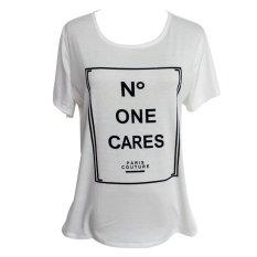 KUNPENG Women Casual Letters Short Sleeve Summer T-Shirt - Intl