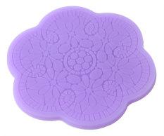 Landor Flower Plum Blossom Lace Fondant Silicone Cake Molds Decoration Baking Mould, Random Color - Intl