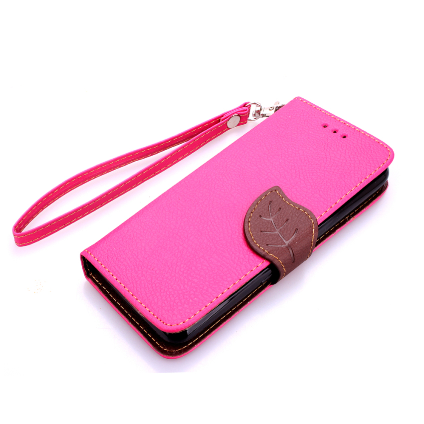 Leather Cover for Sony Xperia E4 (Pink) (Intl)
