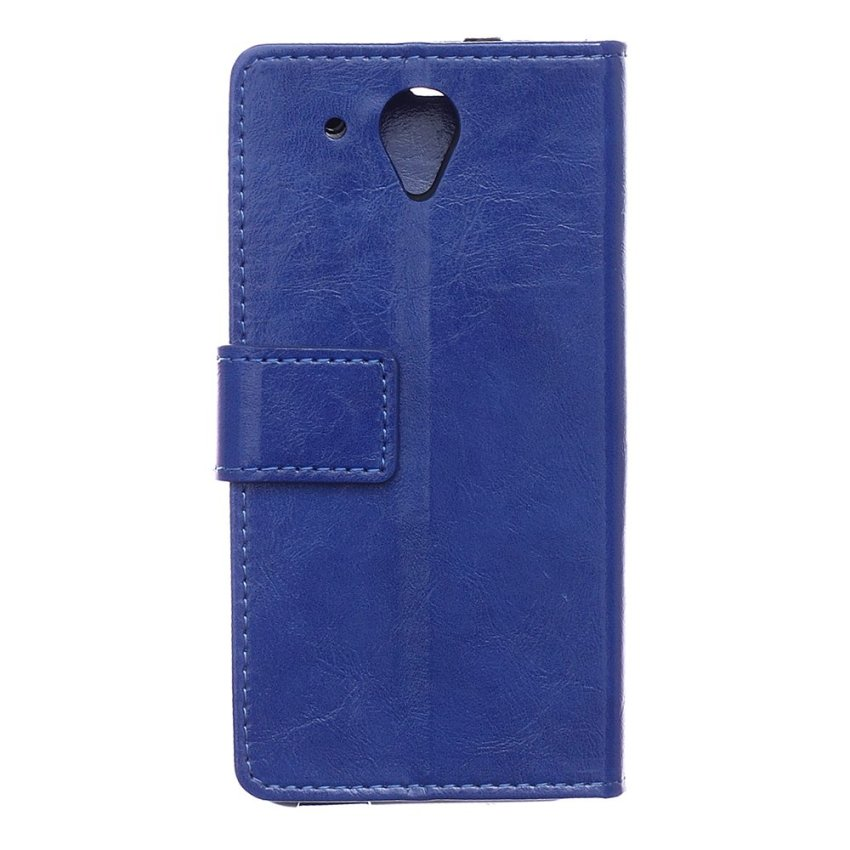 Leather Flip Case with Card Slot for HTC Desire 520 (Blue) (Intl)