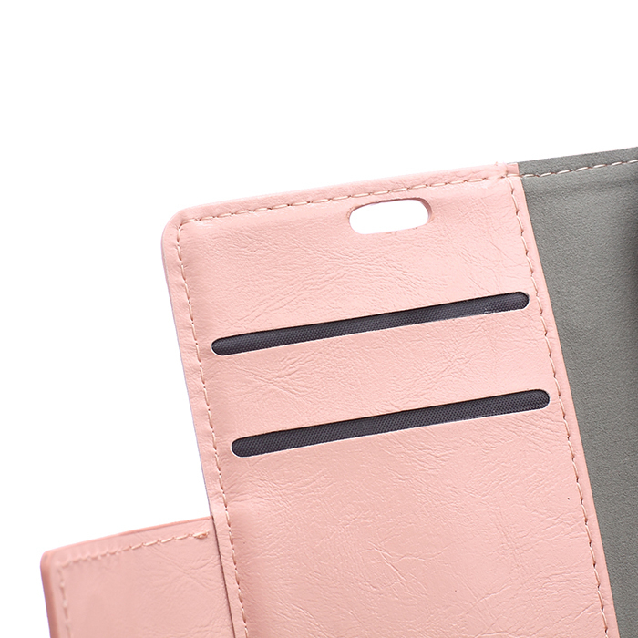 Leather Flip Case with Card Slot for HTC Desire 526 (Pink) (Intl)