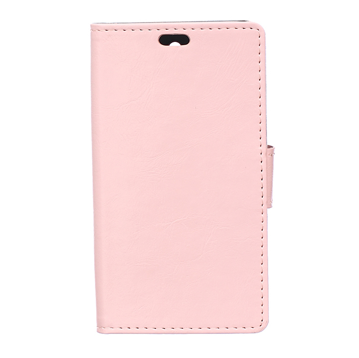 Leather Flip Case with Card Slot for Huawei Ascend G8 (Pink) (Intl)