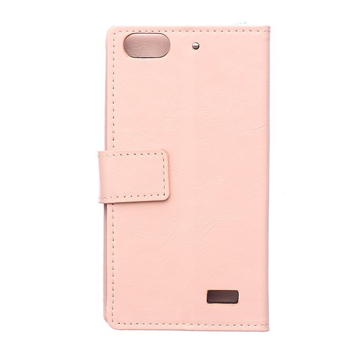 Leather Flip Case with Card Slot for Huawei Honor 4C (Pink) (Intl)