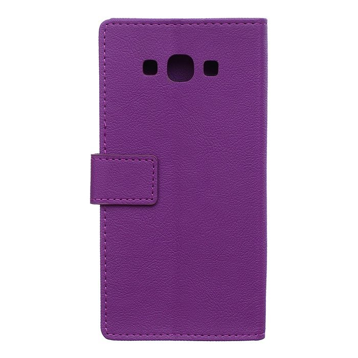 Leather Flip Case With Card Slot for Samsung Galaxy A8 (Purple) (Intl)
