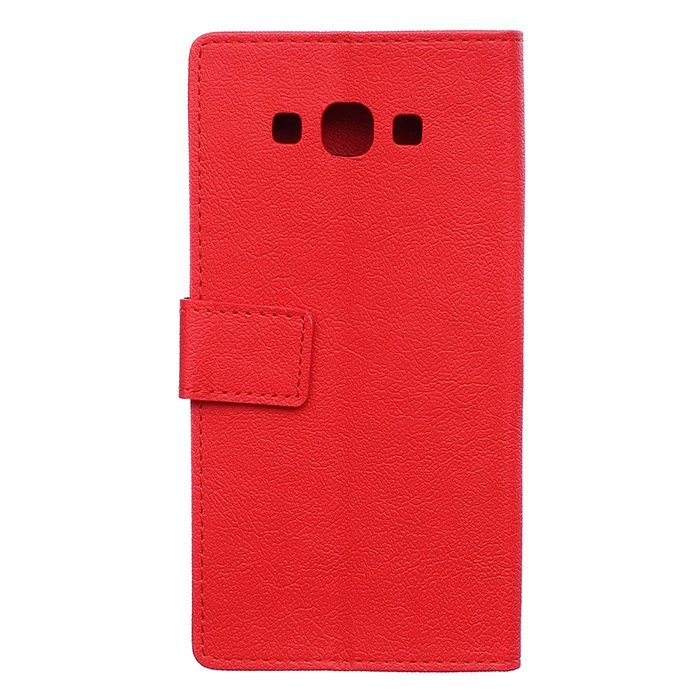 Leather Flip Case With Card Slot for Samsung Galaxy A8 (Red) (Intl)