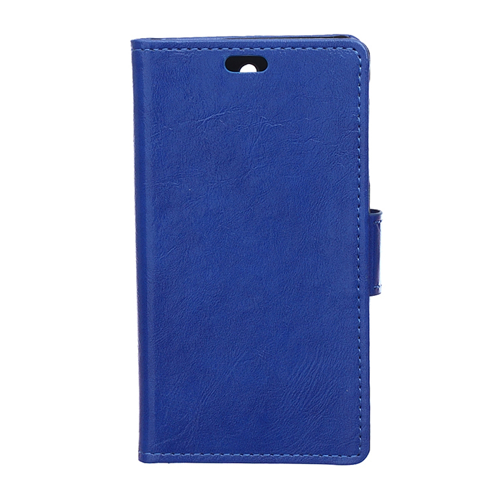 Leather Flip Case with Card Slot for Samsung Galaxy X G388 (Blue) (Intl)