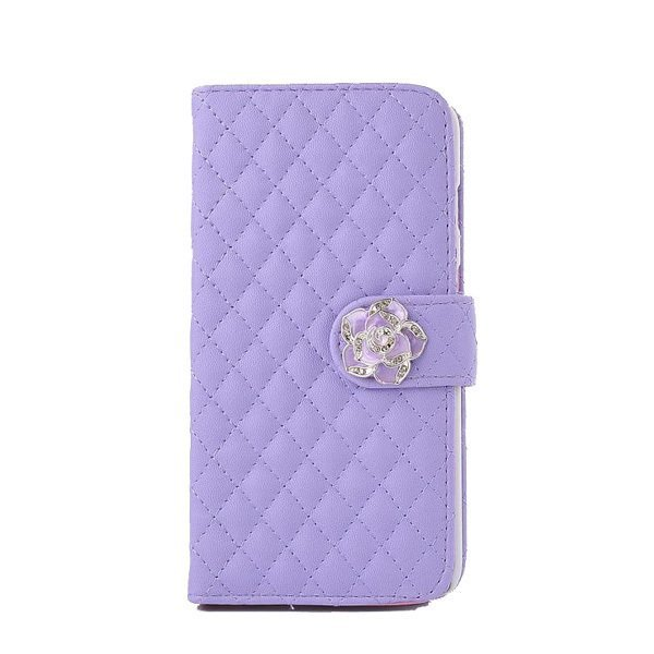 Leather Wallet Case for iPhone 6 (Purple)