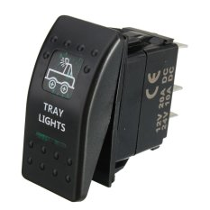 LED Indicador Coche Barco Yate Interruptor Indicador SPST ON-OFF Switch Toggle (Tray Light) - Intl