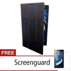"""Lenovo Tab2 A7-20 Smart Cover Layar 7"""" – Hitam + Gratis Anti Gores"""