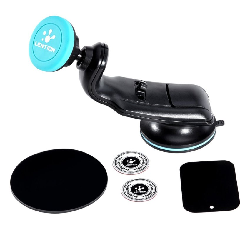 LENTION Magnetic Car Mount Holder with Suction Cup for Smartphone Sky Blue(Intl)