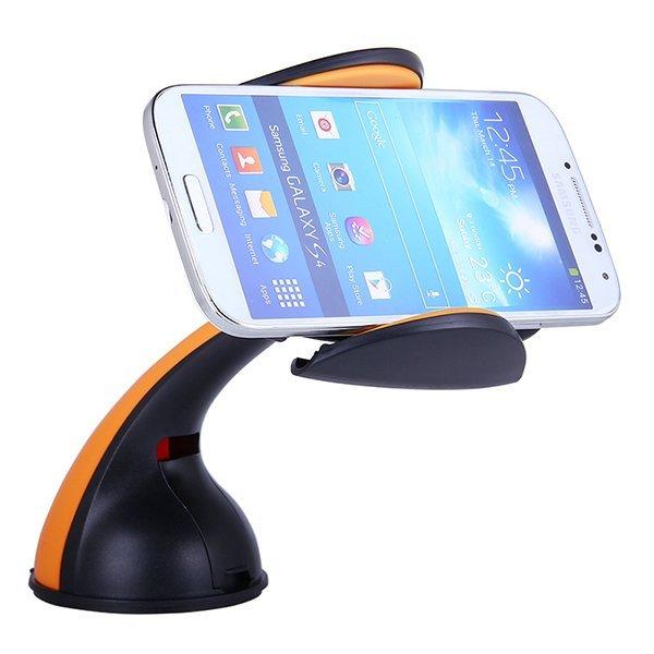 LENTION Universal Car Windshield Holder Mount For iPhone Samsung Orange(Intl)