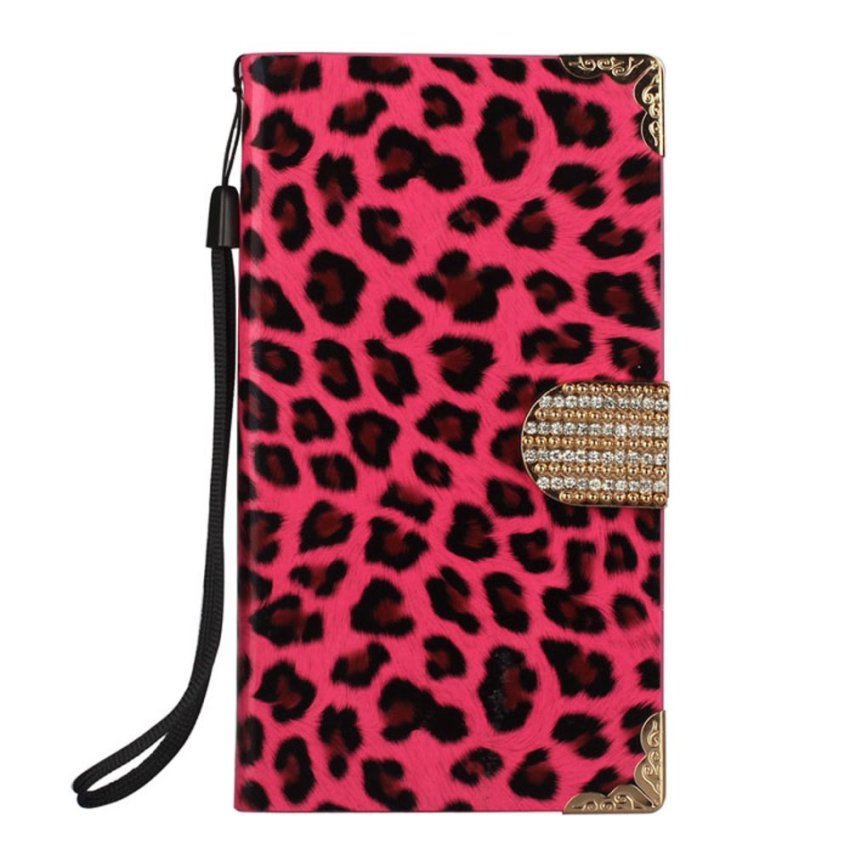 Leopard Wallet Leather Hard Case Cover For Samsung Galaxy Note III N9000 Hot Pink