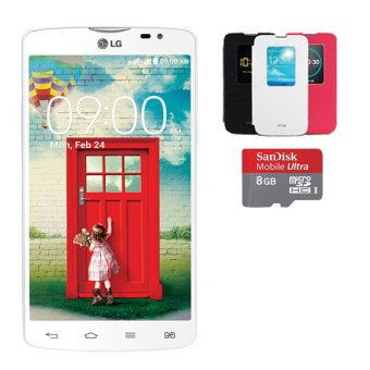 LG L80 Dual - Putih Free Quick Window  Micro SD 8GB