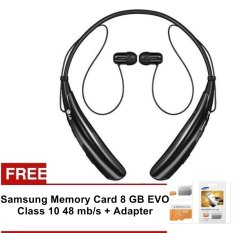 LG Tone HBS 730 - Headset Bluetooth Stereo - Hitam + Gratis Samsung Memory Card 8 GB +Adapter