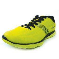 Li-ning Sepatu Lari ARBJ075-4 YL/BK - Kuning