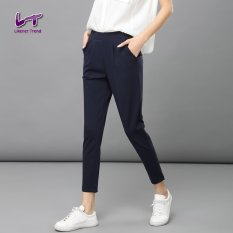 Likener Trend Casual Women Ankle-Length Pants Slim Pants (Navy Blue) - Intl