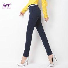 Likener Trend Straight Celana Casual Full Length (Navy Blue)