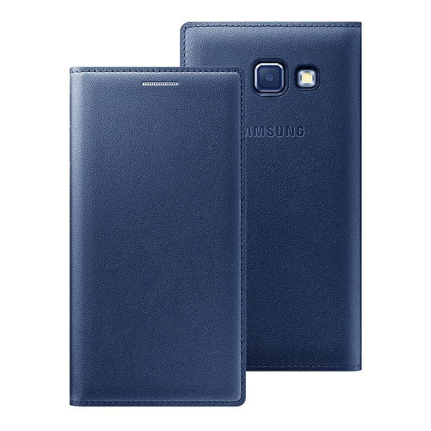 Limited Samsung Galaxy A5 / A510 2016 Flip Wallet Cover - Biru Dongker