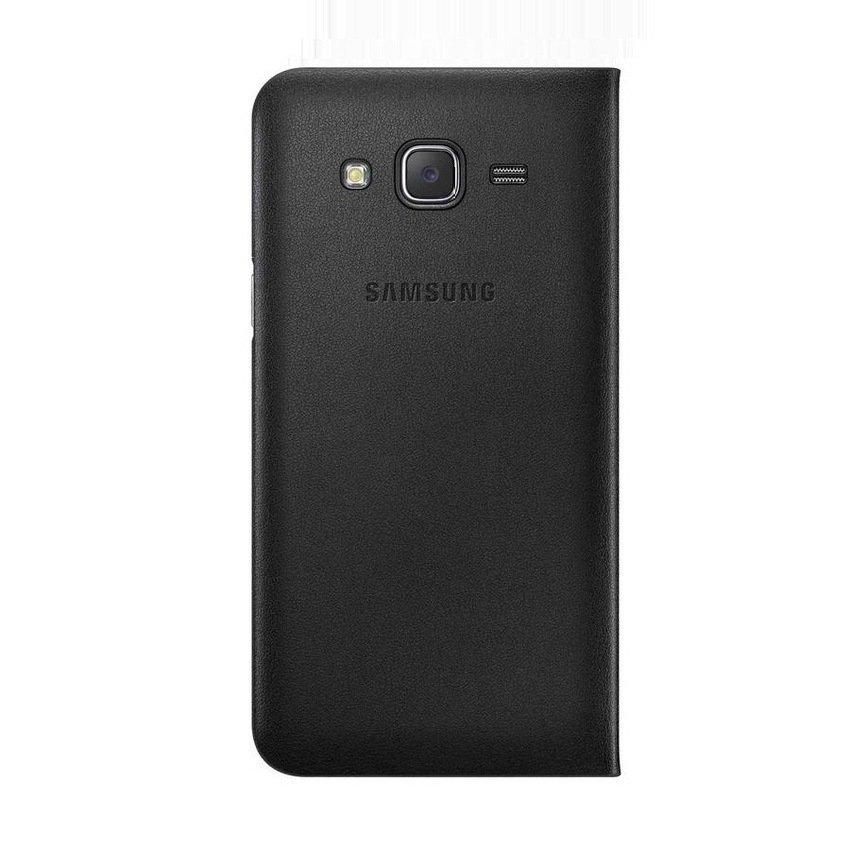 Limited Samsung Galaxy J5 Flip Wallet Cover - Hitam + Gratis Ultrathin