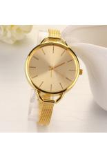 Linemart Fashion Luxury Gold / Silver Quartz Lady Women Wrist Watch (Golden)