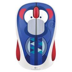 Logitech M238 Wireless Mouse - Motif Kera