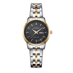 LONGBO Brand Stainless Steel Women Sport Watches WristWatch Luxury Analog Quartz-Watch Luxury Watch Gold & Black 88146