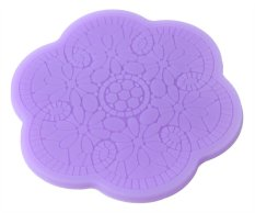 Louiwill Flower Plum Blossom Lace Fondant Silicone Cake Molds Decoration Baking Mould, Random Color (Intl)