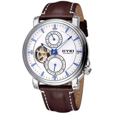 Louiwill Men Brand EYKI Watches Automatic Mechanical Movement Women & Men's Watch Business Casual Fashion WristWatches Montre Homme (Brown) - Intl