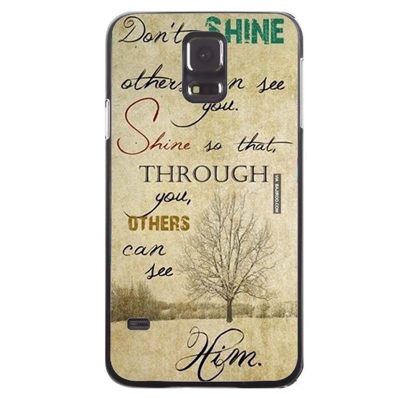 Love Words Printed Phone Case for Samsung Galaxy S5 (Black)