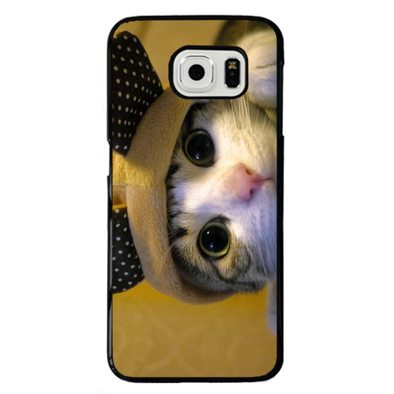 Lovely Kitten Cat Painting Phone Case for Samsung Galaxy S5 E5000 (Multicolor)