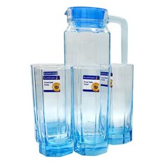 Luminarc Octime Ice Blue Drink Set 5 Buah - Clear
