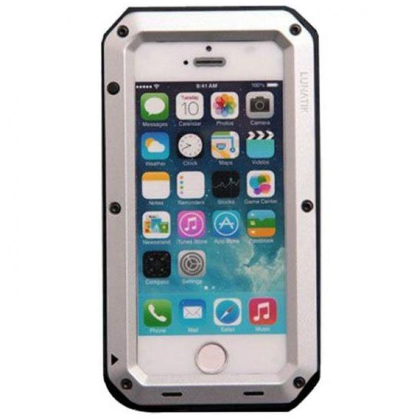 Lunatik Taktik Extreme Protection Case for Iphone SE / 5S / 5 Corning Tempered Glass - Hitam