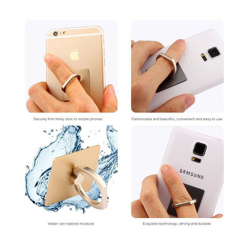 Luxury 360 Degree Finger Ring Cell phone holder Mobile Phone Smartphone Stand Cradle Mount Bracket For iPhone iPad Samsung All Smart Phone Gold (Intl)