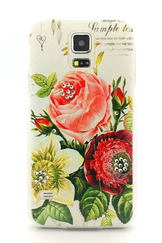 Luxury Flower Case for Samsung Galaxy S5 - Tipe 2