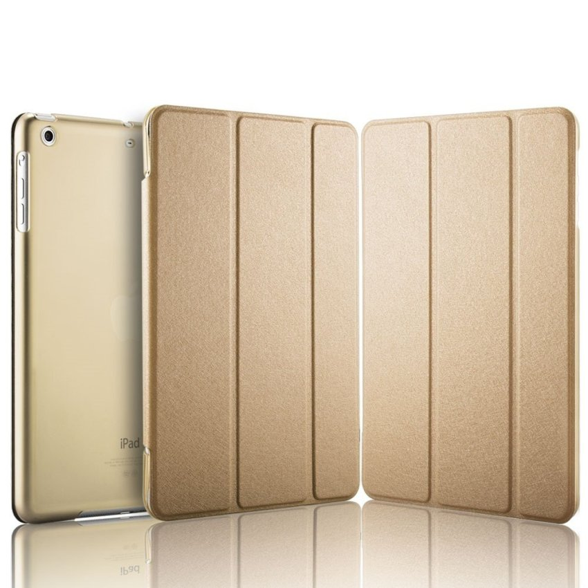Luxury Magnetic Slim Smart Wake Leather Transparent Back Case Cover for Apple iPad mini 1 2 3 Gold(INTL)