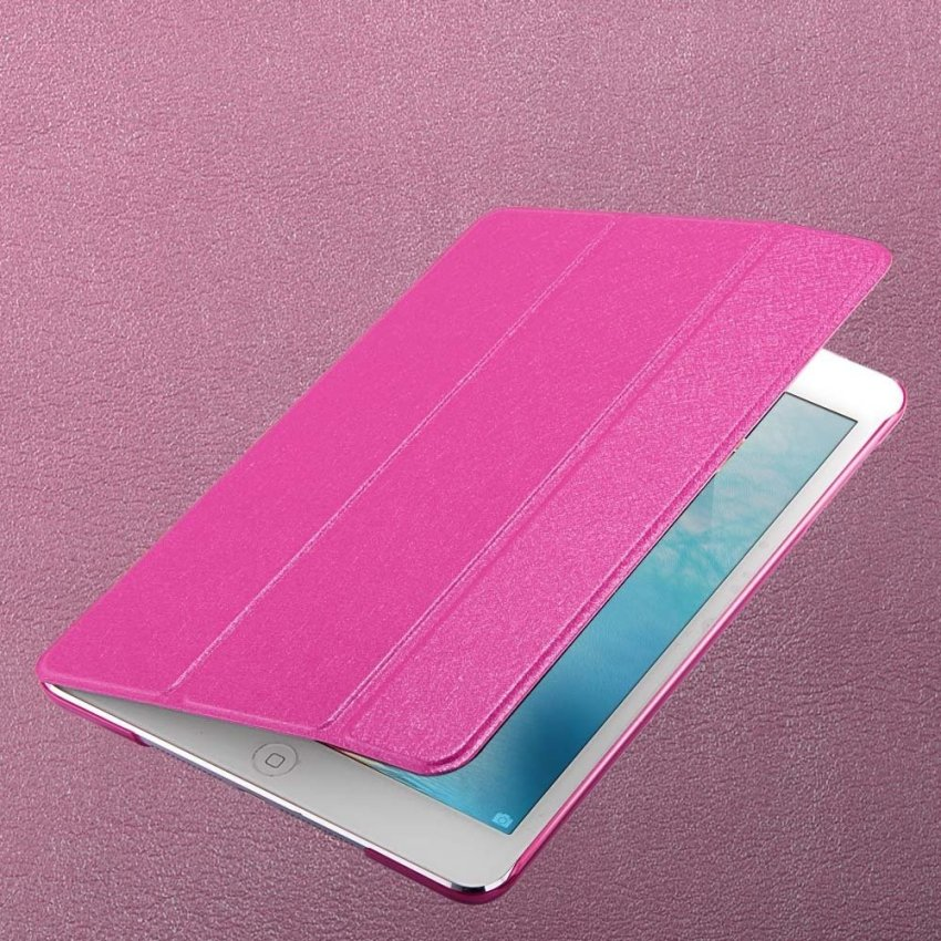 Luxury Magnetic Slim Smart Wake Leather Transparent Back Case Cover for Apple iPad mini 1 2 3 Rhodo(INTL)