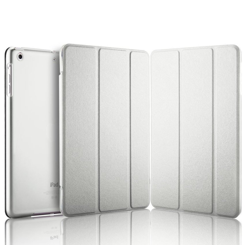 Luxury Magnetic Slim Smart Wake Leather Transparent Back Case Cover for Apple iPad mini 1 2 3 White(INTL)