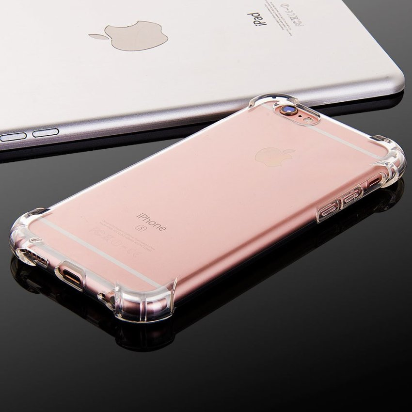 Luxury TPU Soft Silicone Back Case for iPhone 6/6S 4.7 Clear (Intl)