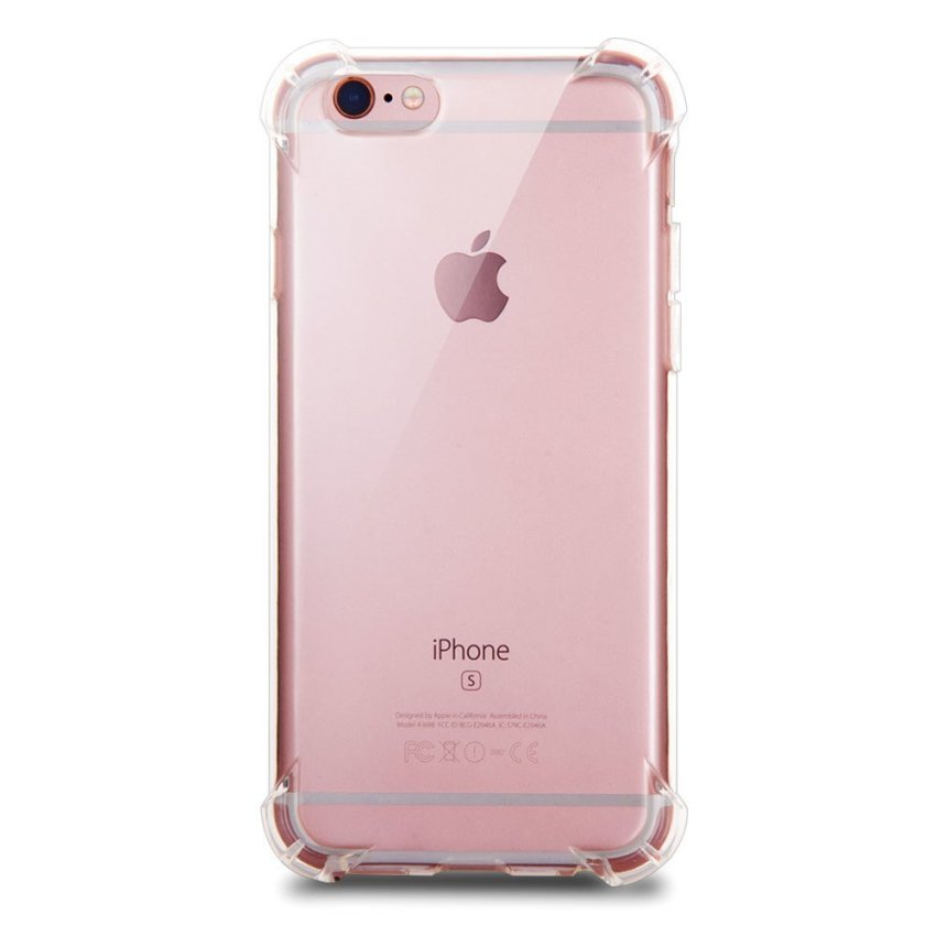 Luxury TPU Soft Silicone Back Case for iPhone 6/6S Plus Clear (Intl)
