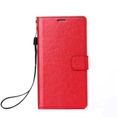 Luxury Vintage Wallet PU Leather Case for Samsung Galaxy Grand 2 Duos G7106 G7102 With Kickstand and Card Slot (Red)