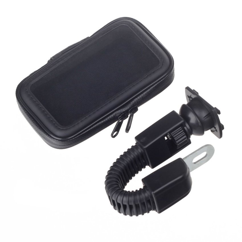 M08 Motorcycle Bicycle Water Resistant Holder / Stand for GPS / Cell Phone (Black) (Intl)