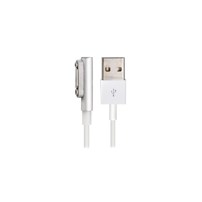 Magnetic USB Charging Data Cable with Light for Sony XL39H/Z1 L39H M51w Z2 L39T/U White+Silver